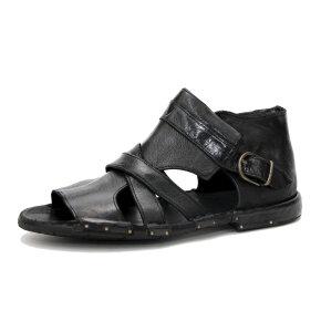 Bubetti - Bubetti 3491 sort gladiator sandal i skind