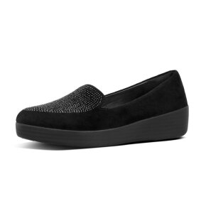 Fitflop Sparkly Sneaker Loafer Sort Dame Sko - Piedi.dk